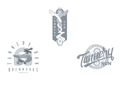 Tannery Run Logo Exploration rejected sketches exploration branding beer brewery iconography phldesign illustration