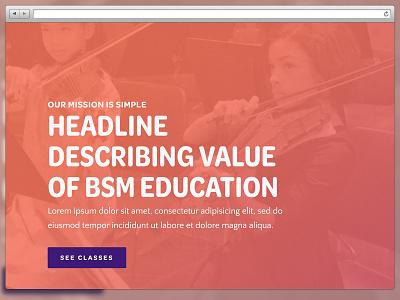 Brand Website Concept phldesign gradient visual design web design creative direction