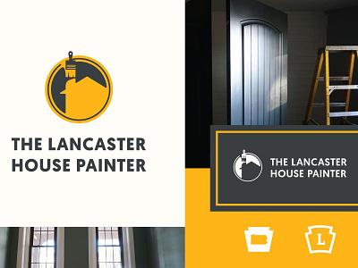 Lancaster House Painter typography painter keystone phldesign lancaster branding logo logo design brand design