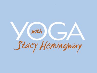 Yoga with Stacy yoga blue orange logo