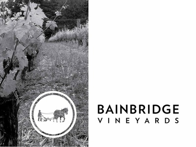 Bainbridge Vineyards Logo vineyard winery farmstead coop horse sustainable bainbridge island washington