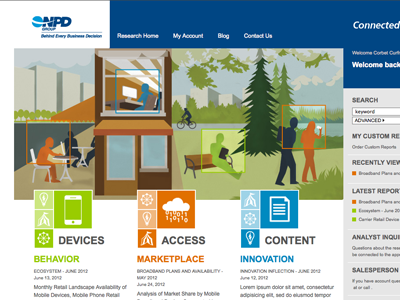 NPD mobile reports internal intelligence market research content