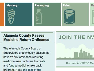 Northwest Product Stewardship stewardship icons environmental products reuse recycle