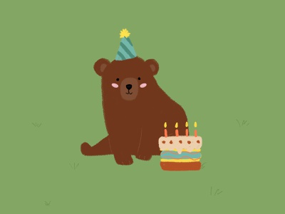 Birthday bear! bear oso cumpleaños birthday ilustración illustration diseño design animals animales