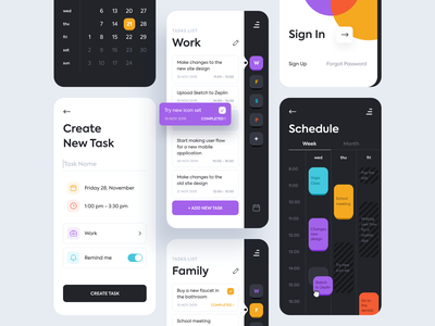 To-do list - Mobile application mobile app design clean tasks to do list planner time management schedule ux designer ui design application mobile