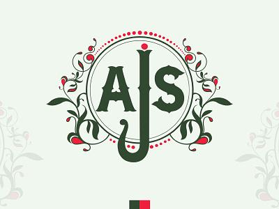 AJS horticulture sun graphic design logo branding