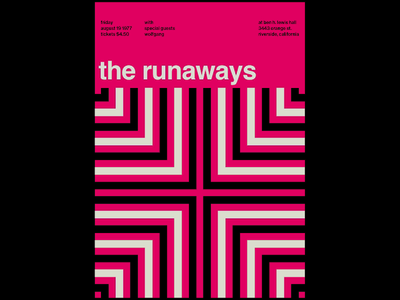 Swissted Animated: The Runaways music artwork music art music animation animation 2d codepen greensock gsap html svg illustration motion motion design poster poster art print print design typography typographic