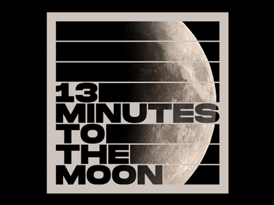 BBC - 13 Minutes to the Moon series cover animation typography print design print poster art posterart poster motion design motion illustration svg css html css html gsap greensock codepen animation 2d animation