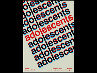 Adolescents - Swissted Animated swissted animation animation design animation 2d greensock gsap html illustration kinetic type kinetic typography kinetictypography motion design motion poster poster art print design typographic typography music music art