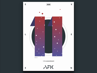AFK Agency's 11th Anniversary typography typographic art typographic print design print poster art poster motion design motion kinetic typography kinetic type kinetictype illustration html gsap css svg animation 2d animation