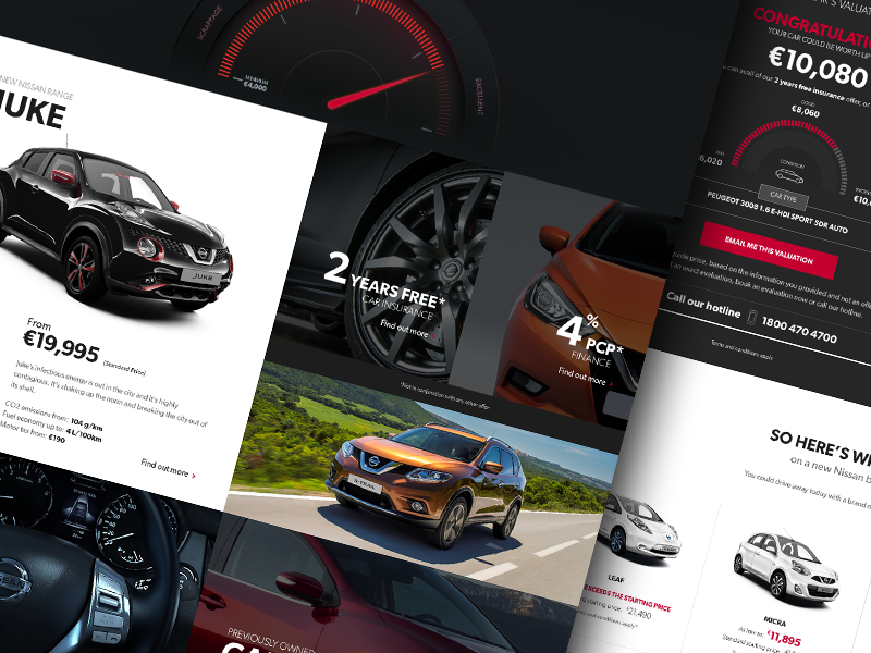 Nissan Dealership Campaign Microsite microsite grid website ui responsive flat