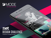 Net Magazine Design Challenge - MODE