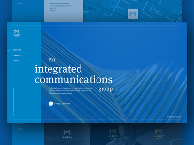 Animated Group microsite for Murray Consultants