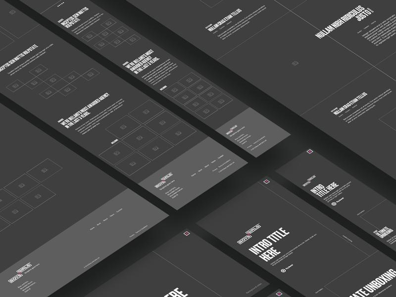 B+G Wireframes typography responsive tablet desktop mobile ui wireframes wireframe website ux