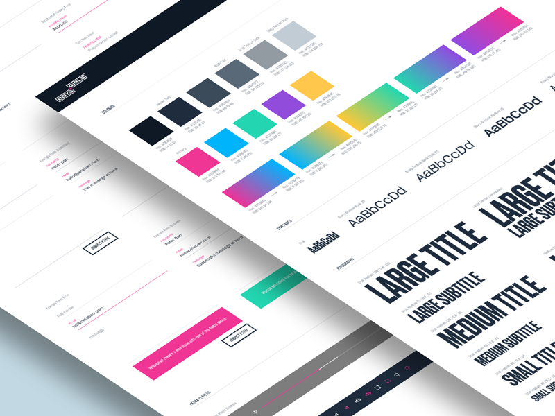 B+G Website UI Style Guide ui style guide ui guide ui elemenets ui design typography style guide interface guidelines guide palette colors