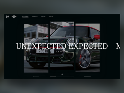 MINI 60 Website mini automotive car interface web design ui design user interface responsive ux ui website