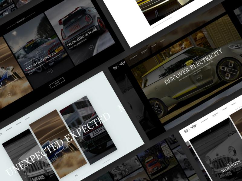 MINI 60 Years ux design sketchapp sketch ui  ux web design website ux user interface ui design ui responsive website minimal interface car automotive