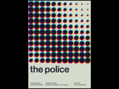 Swissted Animated: The Police motion design motion pixijs html gsap greensock print design print poster art poster kinetic typography kinetic type typography illustration animation 2d animation