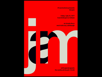Swissted Animated: The Jam typographic typography print design print poster art poster motion design motion kinetic typography kinetic type illustration svg html gsap greensock animation 2d animation