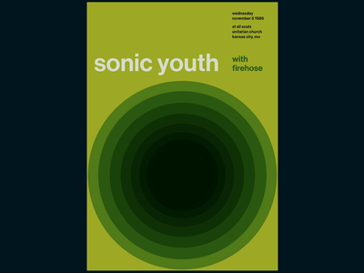 Swissted Animated: Sonic Youth typography typographic svg print design print poster art poster motion design motion kinetic typography kinetic type illustration html gsap greensock animation 2d animation