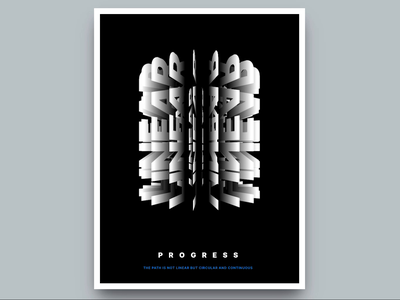 3D Kinetic Type Poster 3d animation 3d typography typographic print design print poster art poster motion design motion kinetic typography kinetic type illustration html gsap greensock animation