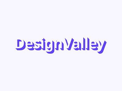 Logo - DesignValley isometric figma branding logodesign logos ux ui design logo