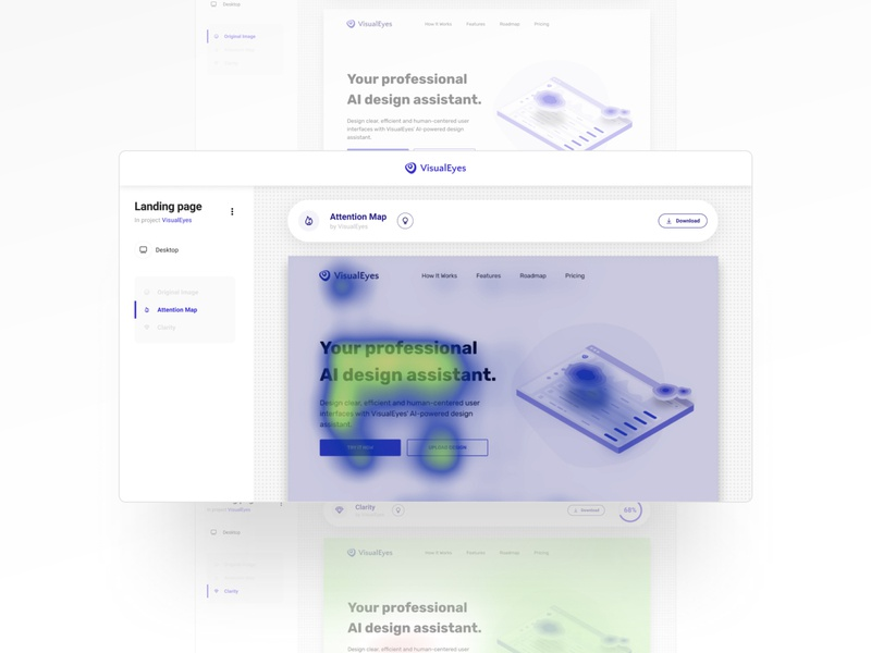 VisualEyes  - Prediction page app uxdesign ui design clarity heatmap visualeyes uiux ux design ui