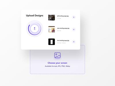 Upload your designs figma dropzone upload file uploading upload uidesing ui  ux ui ux uxdesign minimal user interface uiux uidesign ui design app ux design ui