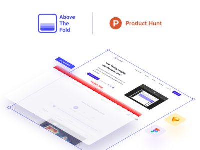 Above the Fold plugin is live 📺 uidesign ui sketch plugin launch isometric figma