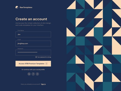 Geometric Art on forms magicpattern create account signin signup login geometric pattern geometric patterns pattern background art background