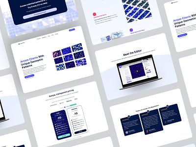 Landing Page for MagicPattern patterns pricing testimonial header hero website design uiux ui webdesign websites website landingpage landing page landing