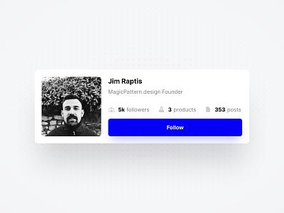 Bio Card profile user bio app ui design uiux uidesign ux design ui