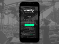 Sign In - Musify app 🎵