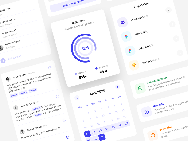 Validate Client Objectives - The Holistic Approach minimal user interface uiux uidesign figma ui design ui