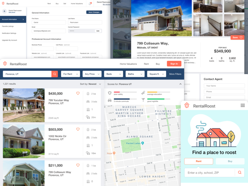 Forgotten Real Estate Site row search sort filtering table dashboard real estate app real estate brand