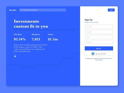 Stock Site finance business investment login sign in signup homepagedesign landingpage finance stock purple