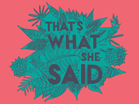 that's what she said illustration