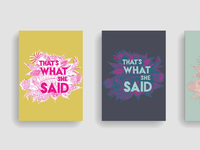 that's what she said (poster series)