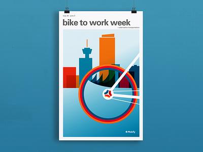 Bike To Work Week Poster vancouver bike poster poster art illustration graphic design design