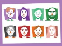 Team Portrait Icons