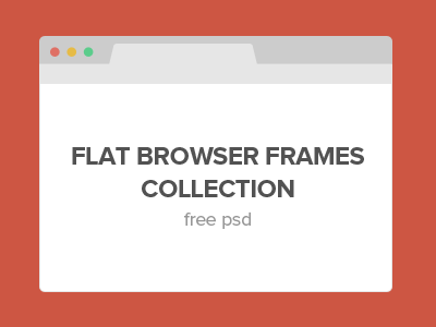 Flat Browser Frames Collection by Surjith S M - Dribbble