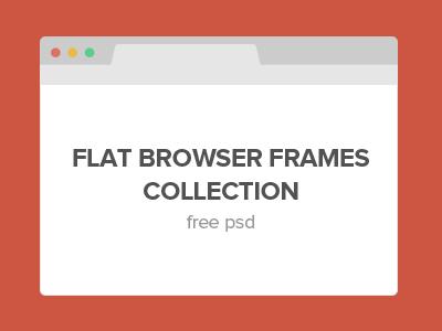 Flat Browser Frames Collection flat browser frame chrome safari skin free psd