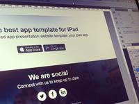 Ipad App Social Footer