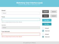 Mailchimp UI Kit - Free psd