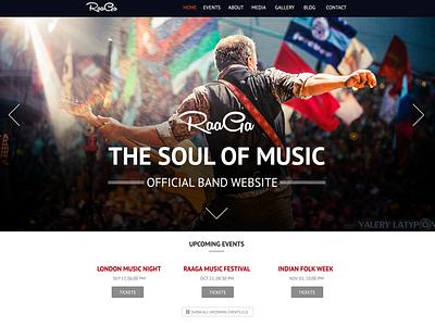 Raaga Reponsive Parallax Template raaga responsive parallax template music bands