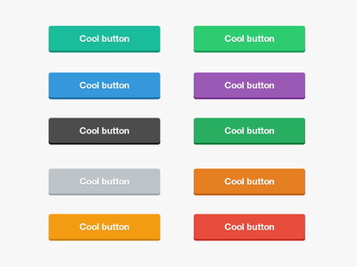 Cool Flat Buttons PSD cool flat ui elements buttons psd freebie free download