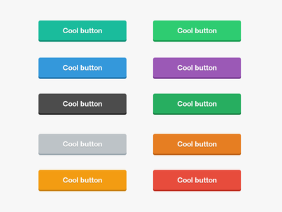Cool Flat Buttons PSD