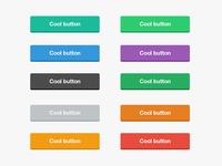 Cool Flat Buttons PSD