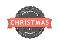 Christmas Retro Badge PSD