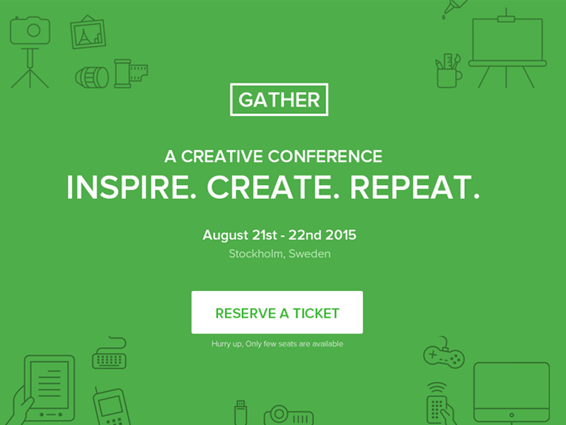 Gather event meetup landing page template